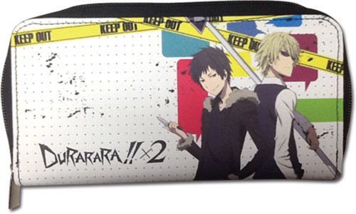 Durarara!! Shizuo, and Izaya With Weapons Ready Zipper Wallet