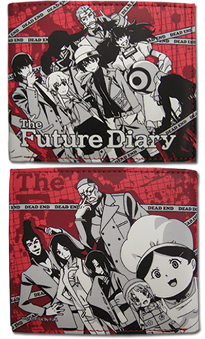 Future Diary Diary Holders Red Bi-fold Wallet