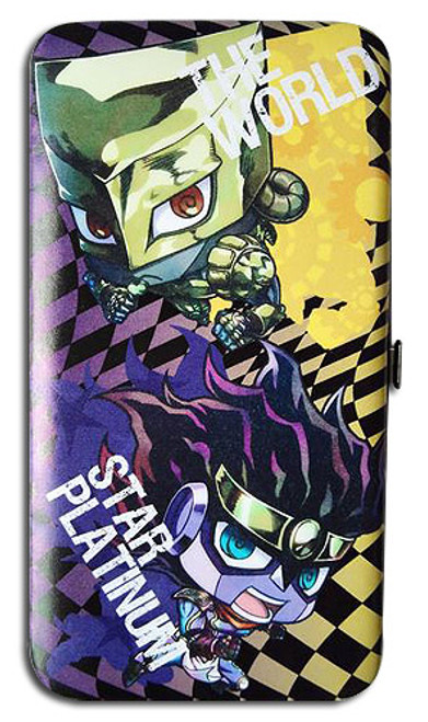 JoJo Chibi Star Platinum, and The World Hinge Wallet