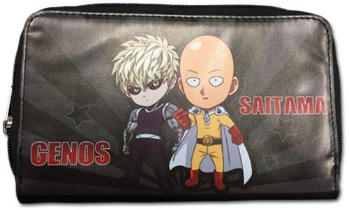 One Punch Man Chibi Saitama, and Genos Zipper Wallet