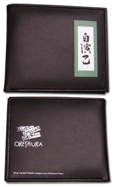 Oreshura Black Jien Word Bi-fold Wallet