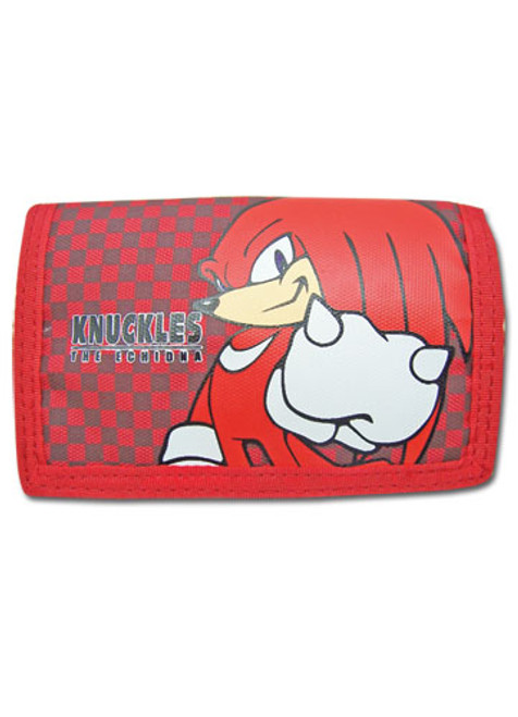 Sonic The Hedgehog Knuckles Velcro Tri-fold Wallet