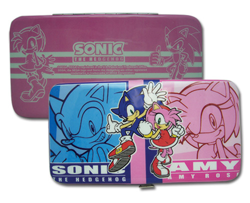 Sonic The Hedgehog Blue, and Pink Amy, and Sonic Hinge Wallet
