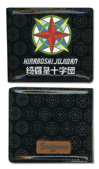 Star Driver Black Kiraboshi Jujidan Logo Bi-fold Wallet