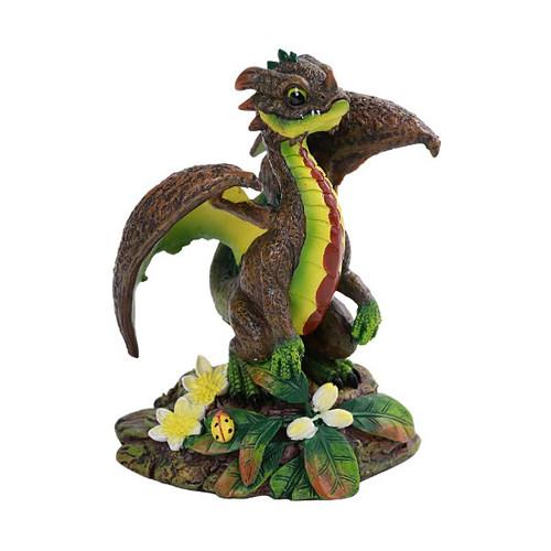 Happy Avocado Dragon Looking Into The Distance