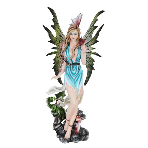 Fairy With Baby Green, and Red Dragons