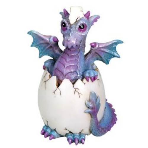 Purple, Blue Dragon Hatching From Egg