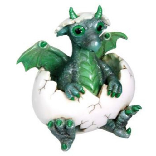 Green Dragon Hatching From Egg