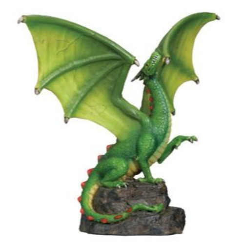 Green Dragon On A Cliff