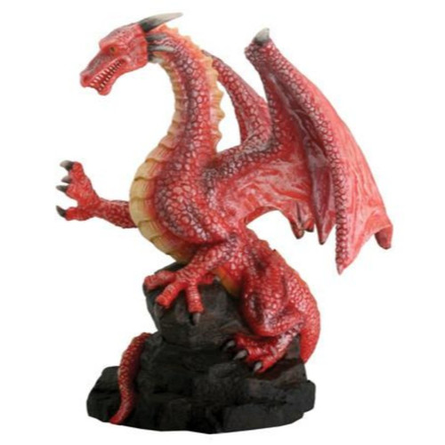 Red Dragon On Cliff Side
