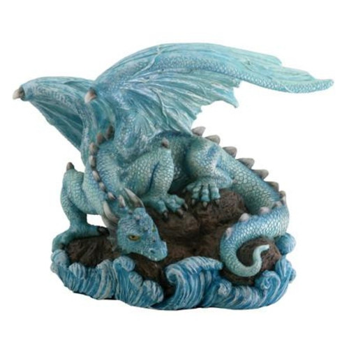 Blue Dragon On A Rock In Water