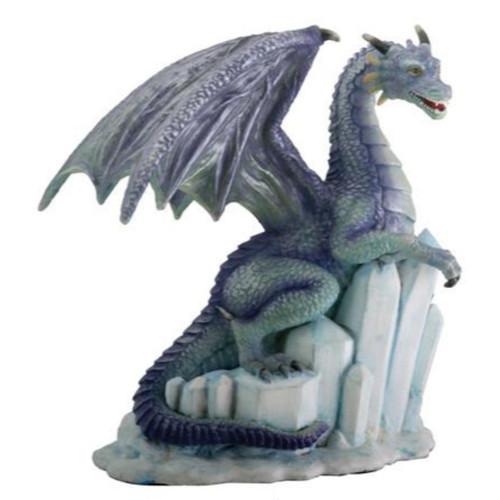 Purple Dragon Resting On Ice