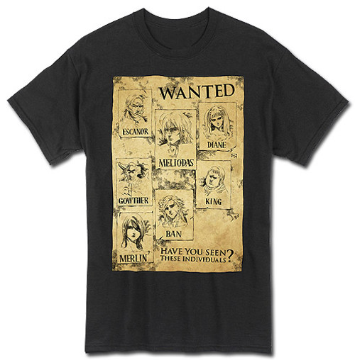 Seven Deadly Sins Wanted Posters T-Shirt