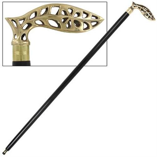 Brass Handle Strong Elegant Walking Cane