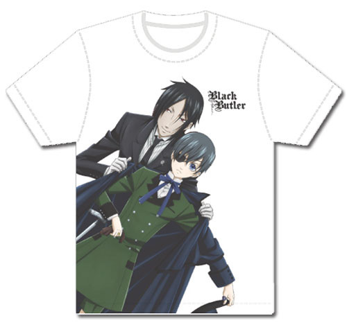 Black Butler - Colorful Sebastian Helping Ciel With His Coat JRS T-Shirt