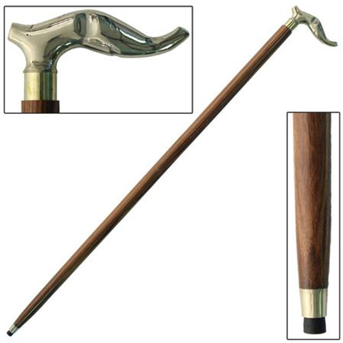 Strong Brass Head Walking Cane