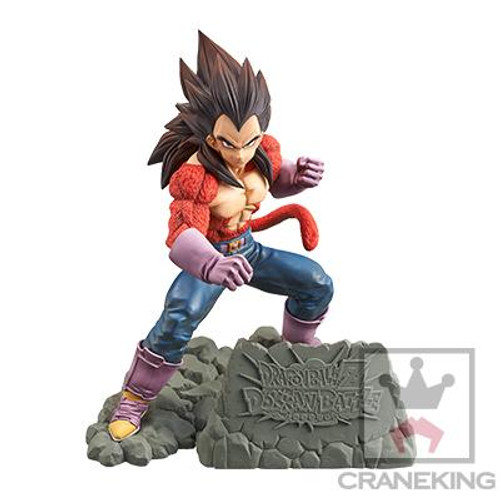 Dragon Ball Super Saiyan Vegeta On Rock Stand Banpresto / Little Buddy Figurine