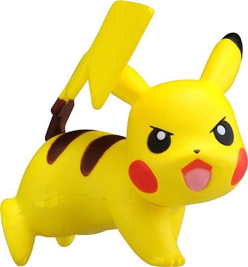 Pokemon Pikachu Posed For Battle  Takaratomy Figurine