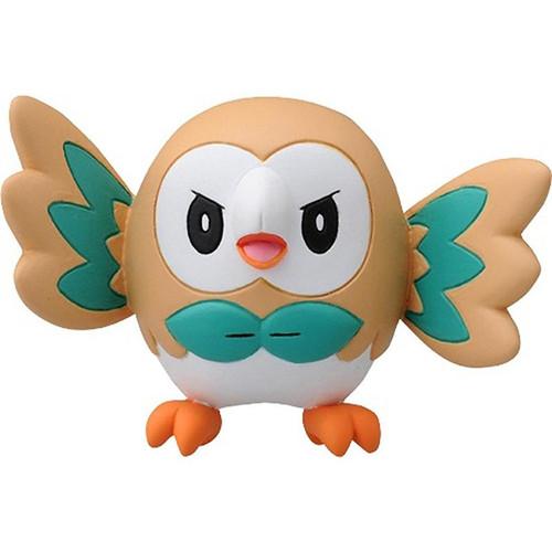 Pokemon Rowlet With Attitude Takaratomy Figurine