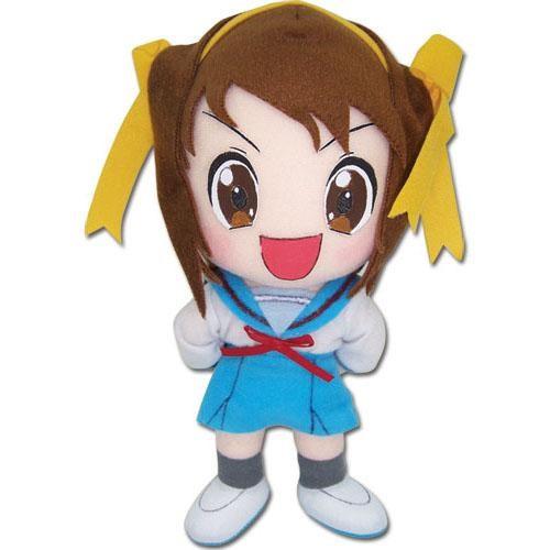 Melancholy of Haruhi Suzumiya Haruhi Chan Wearing Yellow Bows Plushie