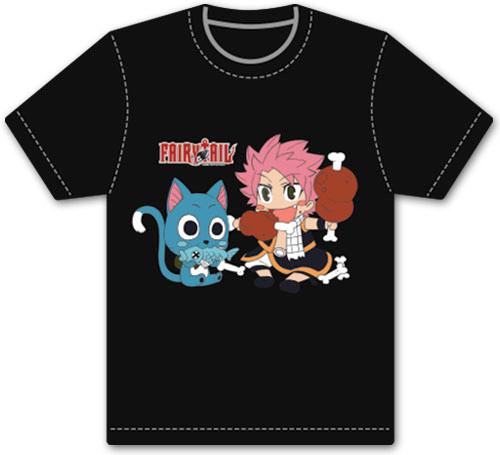 Fairy Tail - Chibi Natsu And Happy Eating T-Shirt