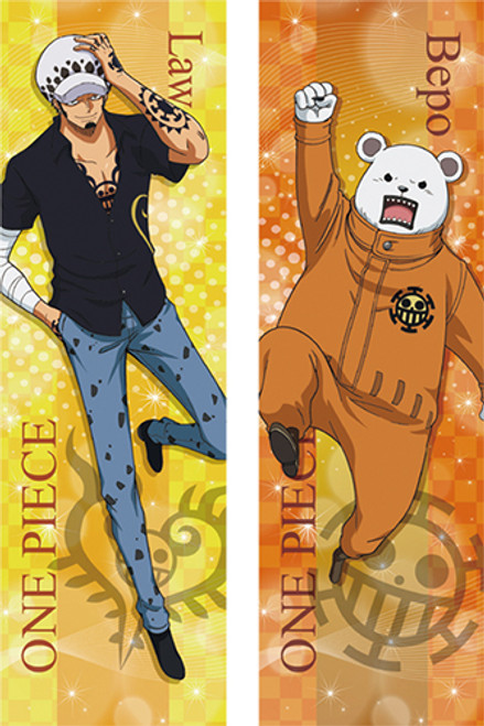 One Piece Full-Length Law And Bepo Body Pillow Case Only