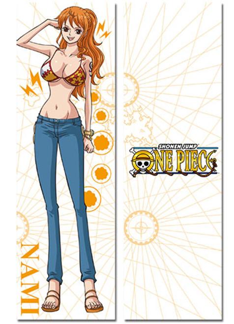 One Piece Full-Length Nami & New World Logo Body Pillow