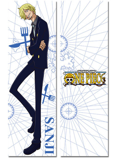 One Piece Full-Length Sanji & New World Logo Body Pillow
