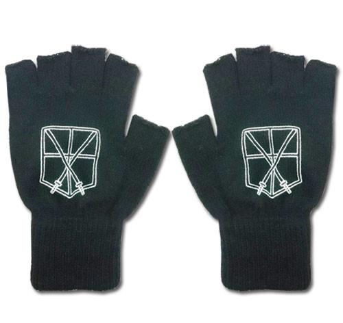 Attack On Titan - Cadet Corps Symbol Fingerless Gloves Cosplay Costume