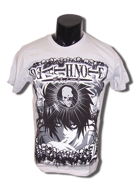 Death Note - L With Skulls Surrounding Him T-Shirt