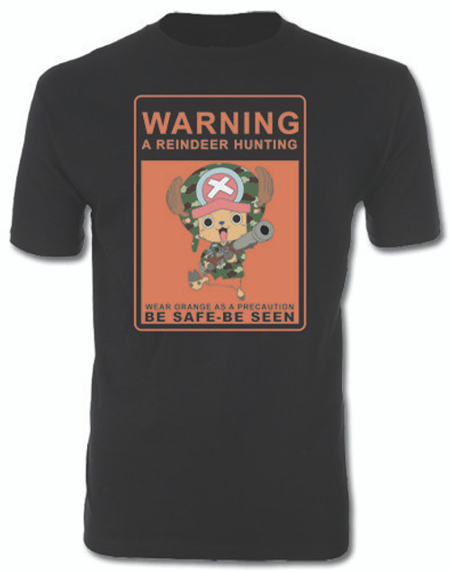 One Piece - Chopper Hunting Warning Sign T-Shirt