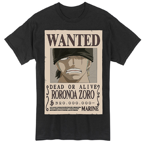 One Piece - Zoro's Wanted Poster T-Shirt