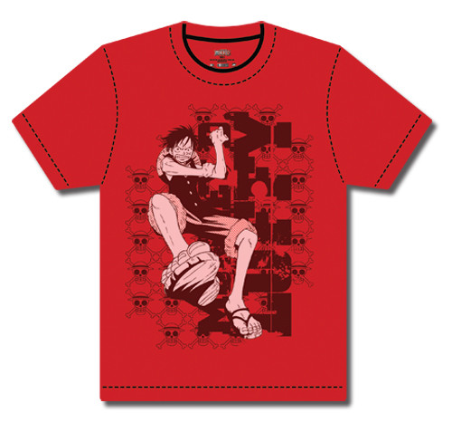One Piece - Luffy Swinging In T-Shirt