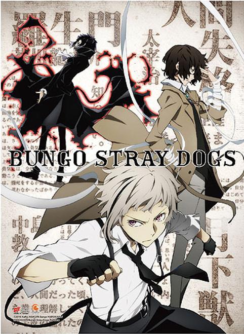 Bungo Stray Dogs - Atsushi, Osamu, And Ryunosuke Teaser Art Wall Scroll