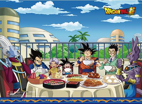 Dragon Ball Super - Goku And Friends Enjoying A Feast Wall Scroll