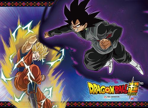 Dragon Ball Super - Dark Goku Attacking Super Saiyan Goku Wall Scroll