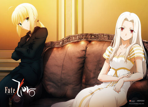 Fate Zero -  Saber And Irisviel Resting Wall Scroll