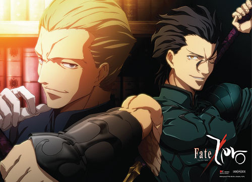 Fate Zero -  Lancer And Kayneth Smirking With Victory Wall Scroll