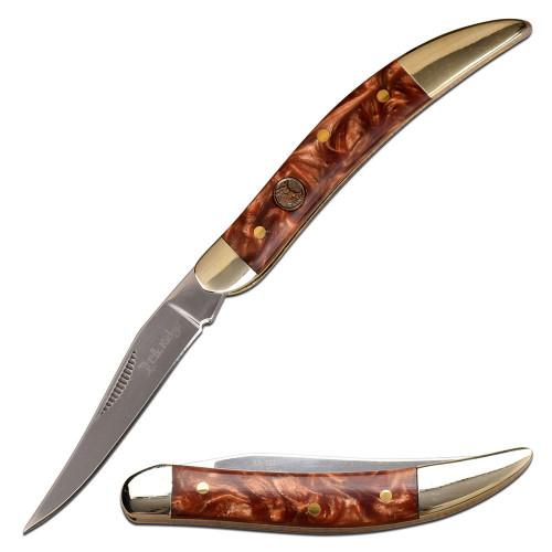 "5.25"" Steel, Toothpick Blade, Resin Handle, Manual Folding Knife"