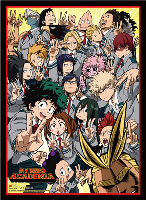 My Hero Academia S2 - All Of Class 1-A With All Might Key Art High End Wall Scroll