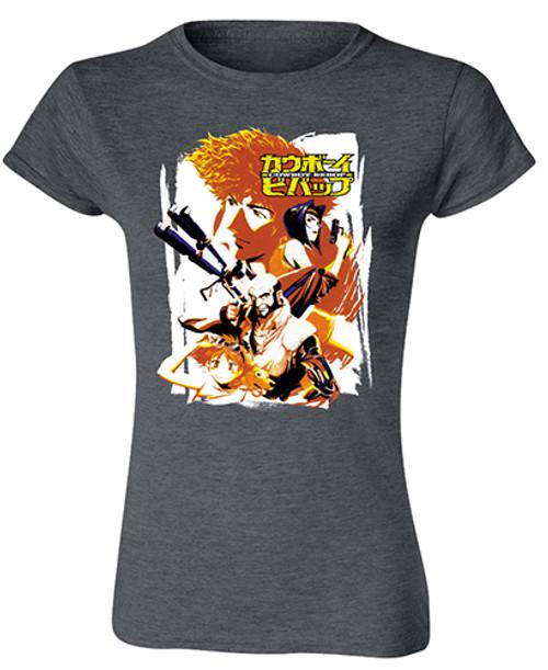 Cowboy Bebop - Bebop Crew Gray JRS T-Shirt
