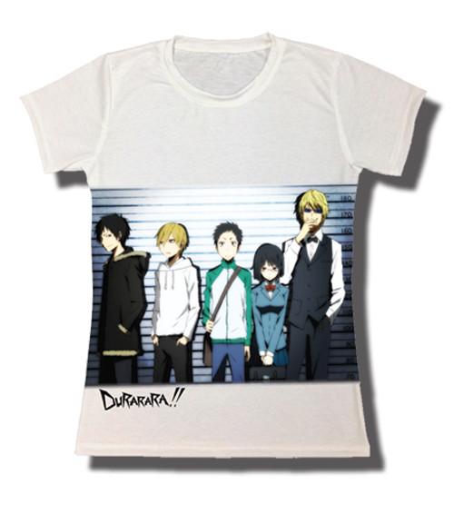 Durarara!! - Main Cast In A Police Line Up JRS T-Shirt