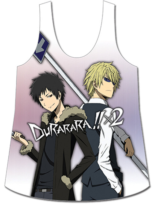 Durarara!!X2 - Izaya And Shizuo With Weapons Tank Top