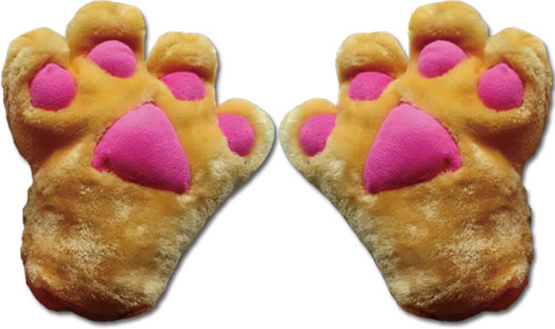 Orange Paws With Pink Pads Gloves Cosplay Costume