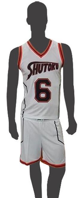 Kuroko's Basketball - Midorima's #6 Shutoku Basketball Uniform Cosplay Costume