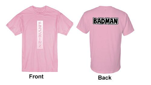 Dragon Ball Z - Vegeta's Badman Written On The Back T-Shirt