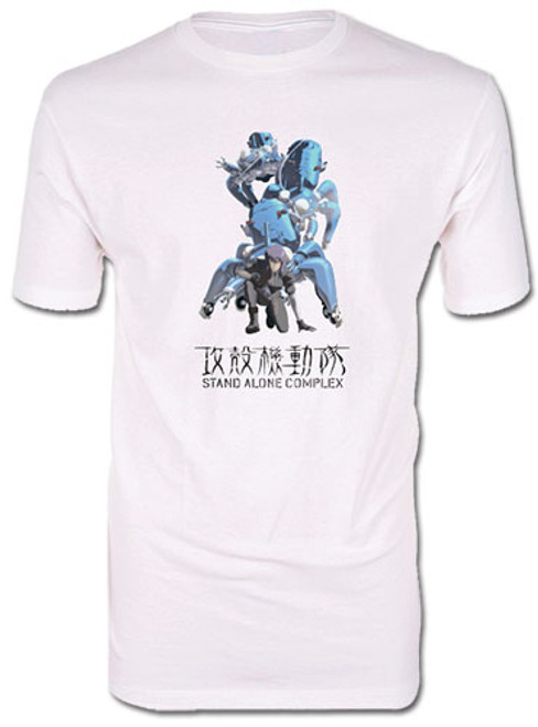 Ghost In The Shell S. A. C. - Matoko And Tachikoma Back To Back T-Shirt