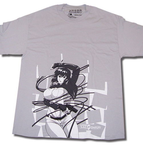 Ghost In The Shell S. A. C. 2nd Gig - Matoko Entangled In Wires Gray T-Shirt