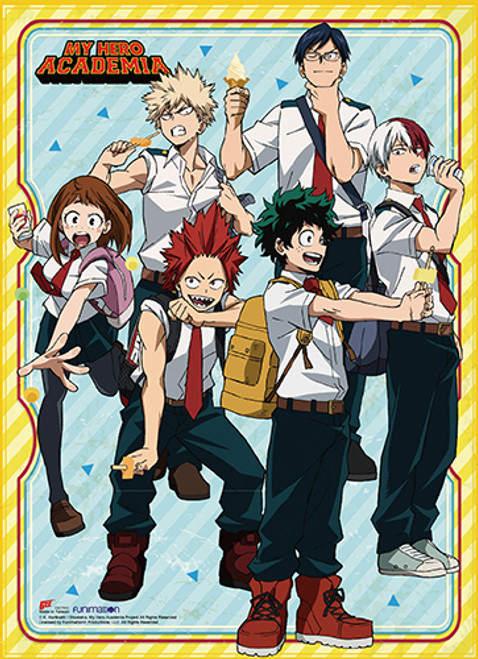 My Hero Academia S2 - Deku And Friends Eating Ice Cream Wall Scroll