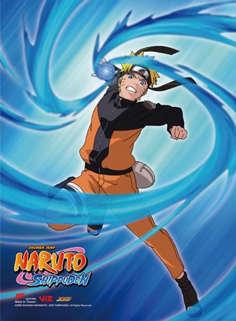 Naruto Shippuden - Naruto Performing Rasengan Blue Background